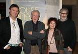 Jean-Pierre Lemouland (producteur), JF Laguionie, Anik Le Ray (scénariste des précédents films de Laguionie) et Marc Bonny