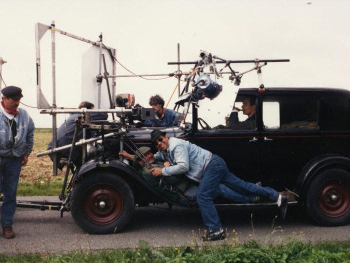 """Tournage du film """"Baptême"""" de René Féret (1988) © Pierre Lhomme"""
