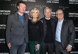 Frédéric Bonnaud, Jane Fonda, Costa-Gavras, Thierry Fremaux - Ouverture de la rétrospective Jane Fonda à la Cinémathèque française © Thierry Stefanopoulos
