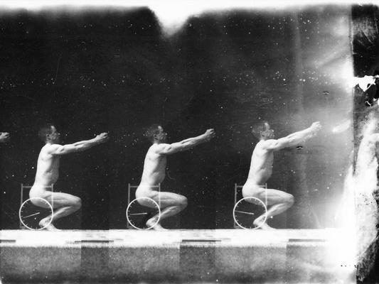 Montage E. J Marey - bandes chronophotographiques - Etienne-Jules Marey et Georges Demenÿ - 1890 - Collections La Cinémathèque française