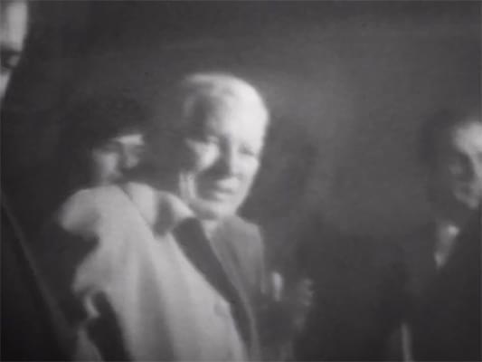 Visite de Charlie Chaplin à la Cinémathèque française