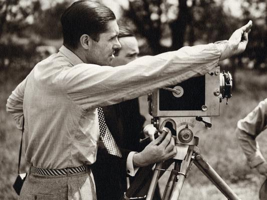Henri Chomette au travail - non crédité - Collections La Cinémathèque française