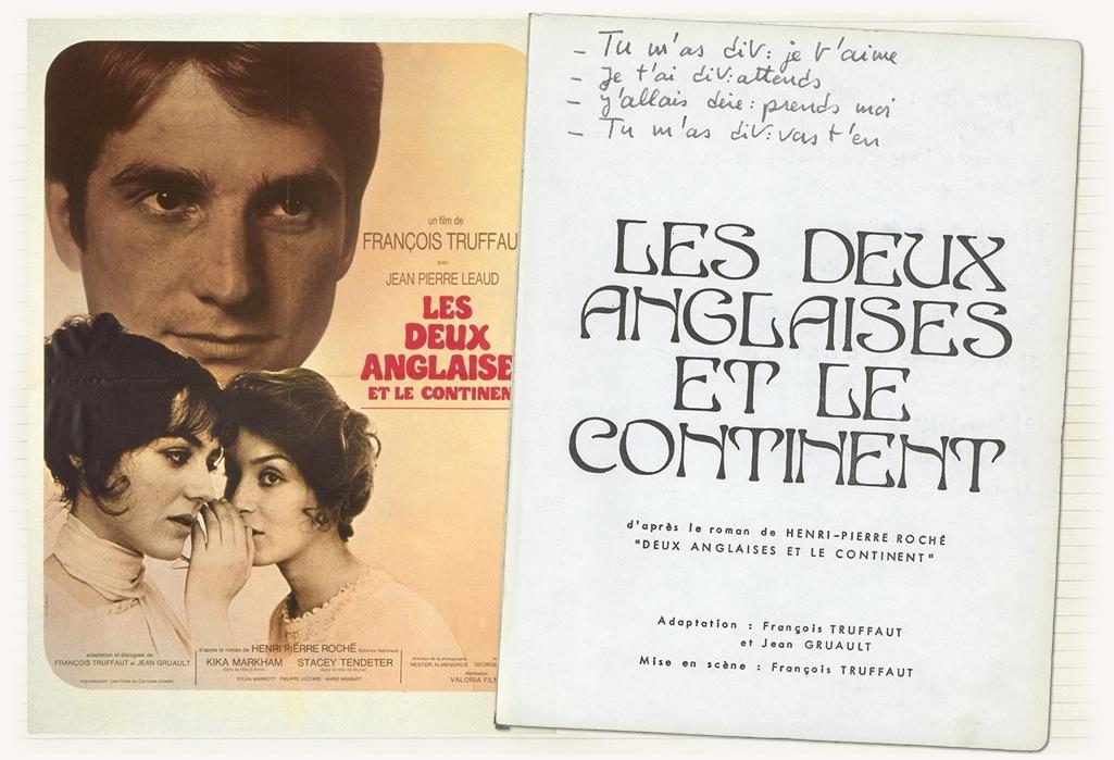 Scénario Des Deux Anglaises Et Le Continent Annoté Par François Truffaut    La Cinémathèque Française © Succession François Truffaut