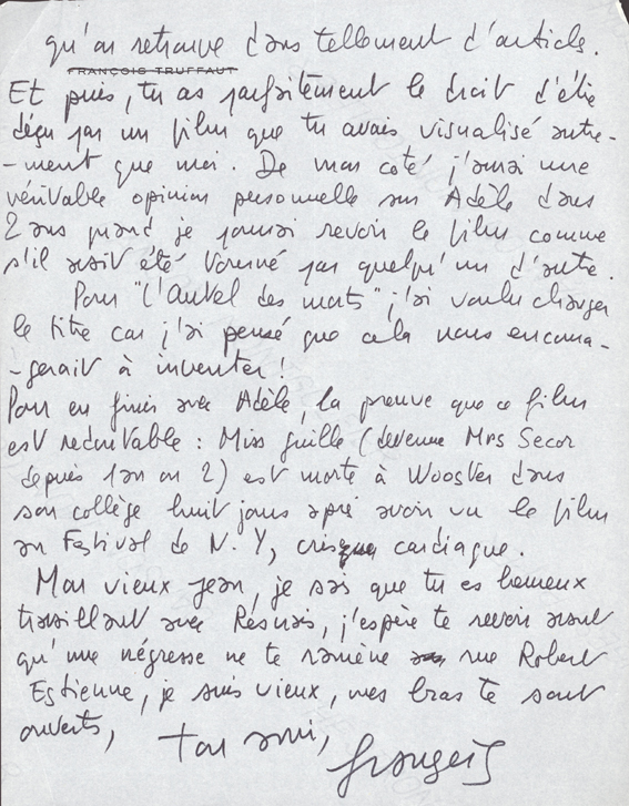 Le cinéma à quatre mains - les films écrits par François Truffaut ...