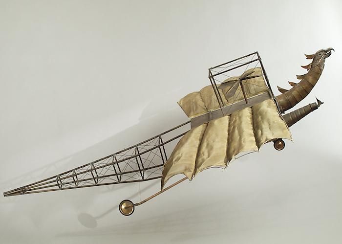 L'Aéronef du professeur Maboul dans le film À la conquête du Pôle (1912) de Georges Méliès