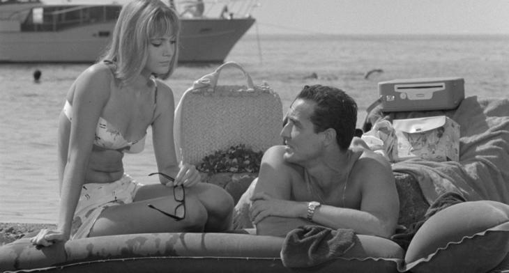 Catherine Spaak et Vittorio Gassman dans Le Fanfaron