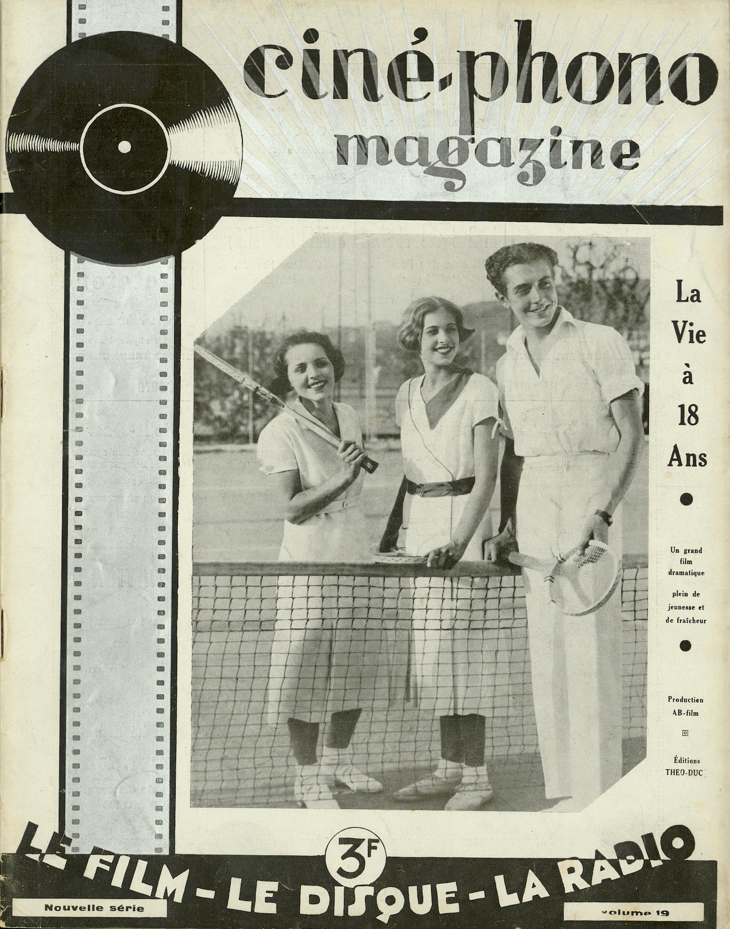 Ciné-phono magazine :  revue internationale du film et du disque (1930-1934)