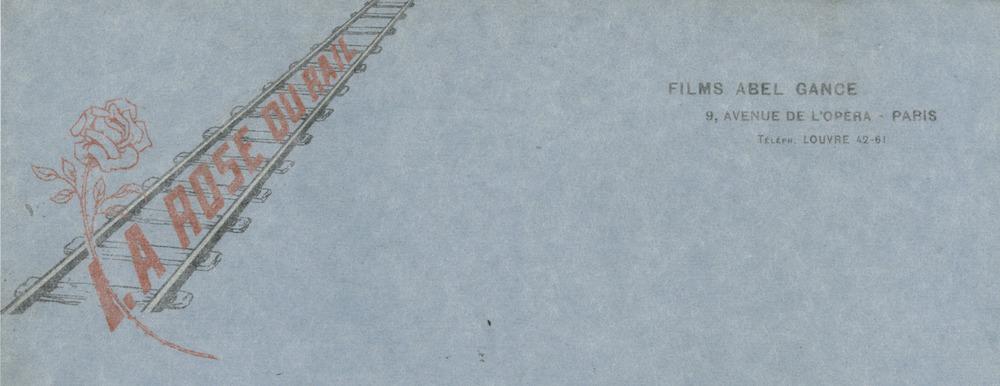 Détail du papier à entête La Rose du rail, extrait du manuscrit original de La Roue