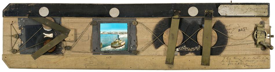Diaphanorama d'Eugène Danguy - Le Ferry Boot, bateau faisant la traversée de New Yorck à Brockling Amérique (sic)