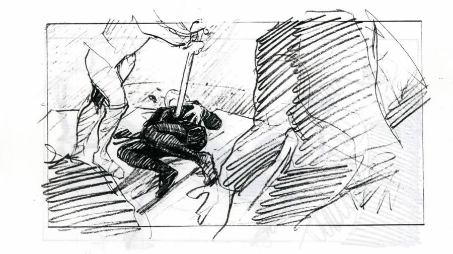 Fac-similé du story-board de Maxime Rebière : Nuit de la Saint-Barthélémy 2