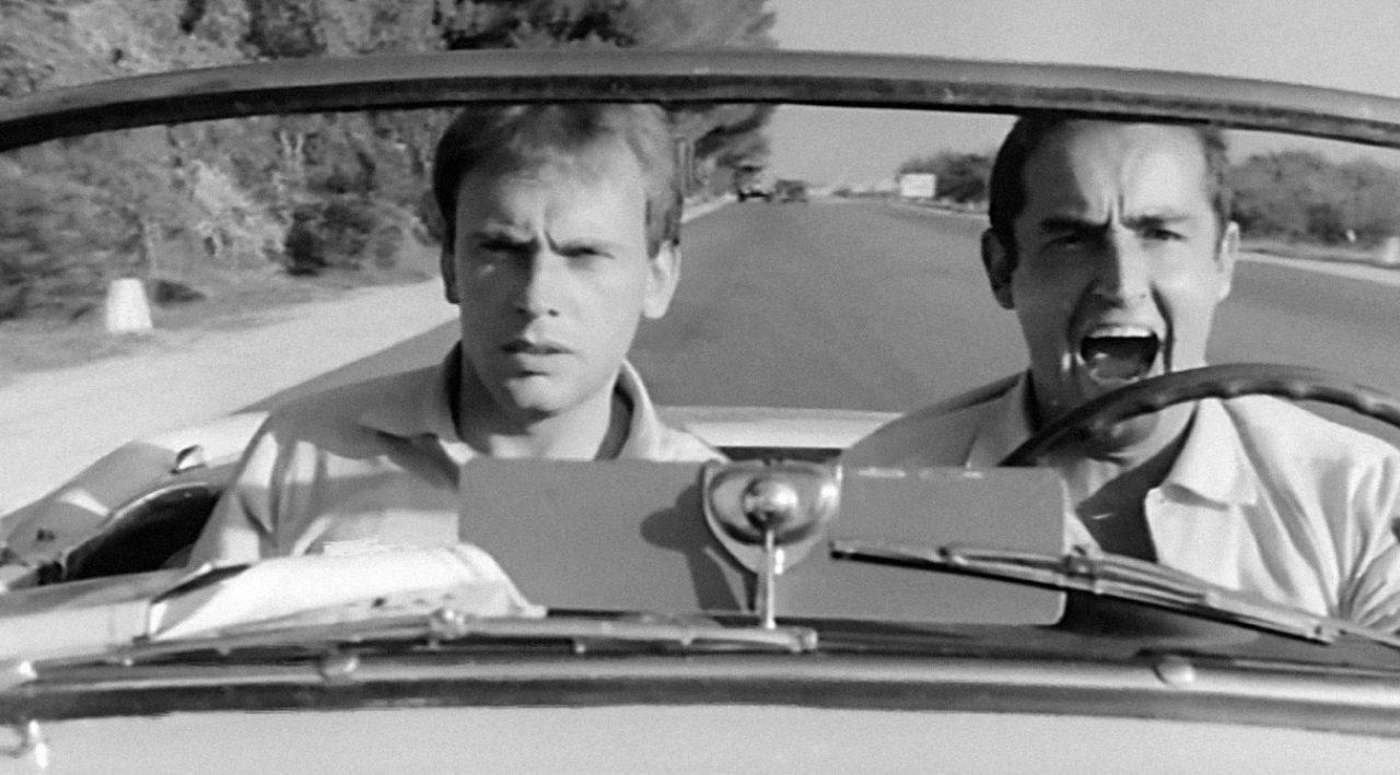 Jean-Louis Trintignant et Vittorio Gassman dans Le Fanfaron