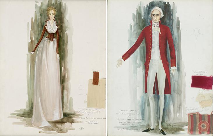 Lucile Desmoulins et Danton, projets pour «Danton»(Andrzej Wajda, 1982).