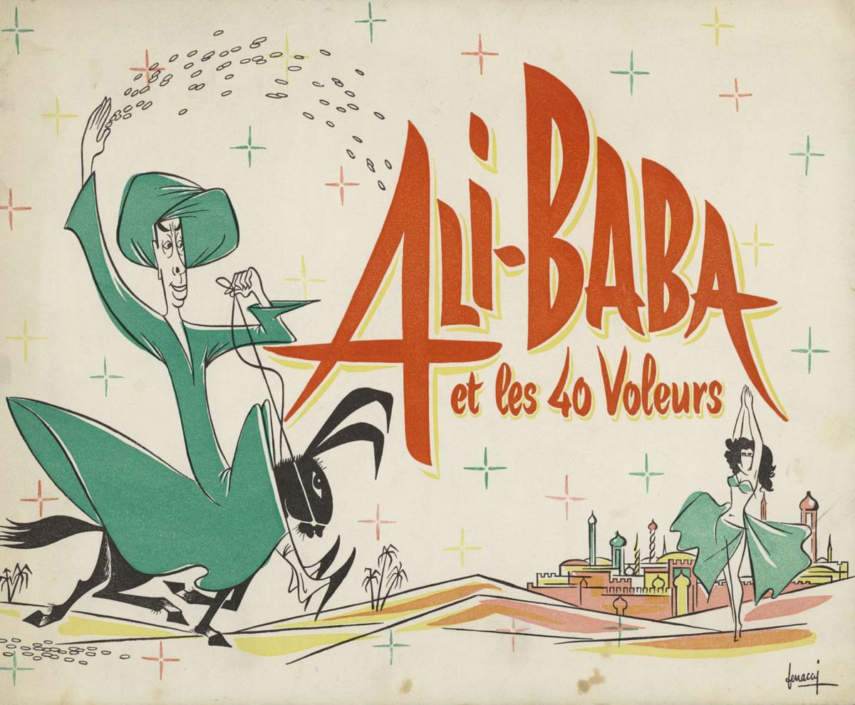 Matériel publicitaire d'Ali Baba et les quarante voleurs (Jacques Becker)