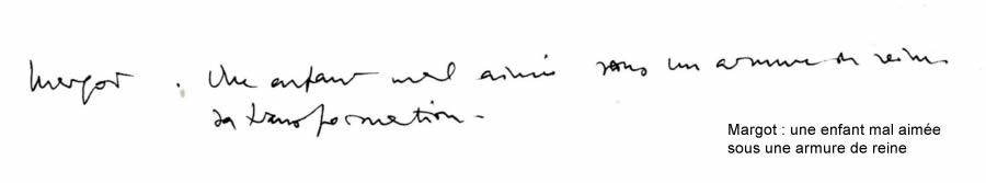 Notes préparatoires de Patrice Chéreau