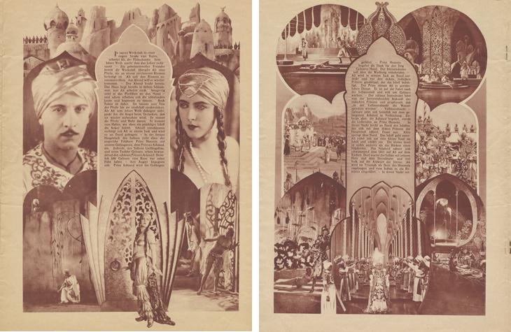 Plaquette promotionnelle éditée par la UFA pour la sortie de Shéhérazade d'Alexandre Volkoff