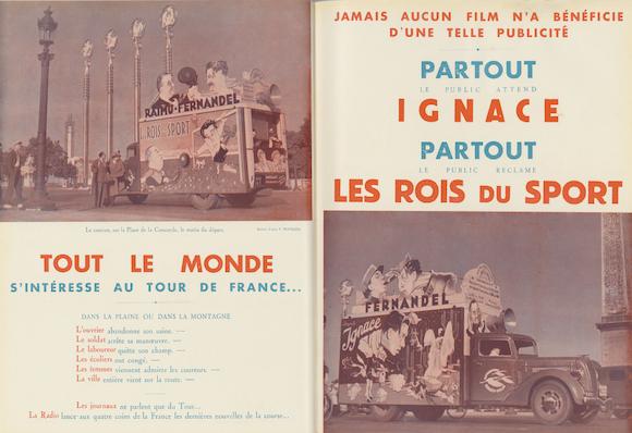 Publicité pour Ignace et Les Rois du sport dans La Revue l'écran n°208 (août 1937)