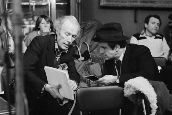 Rohmer et Truffaut sur le tournage de La Chambre verte