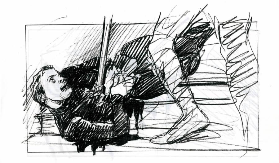 Fac-similé du story-board de Maxime Rebière : Nuit de la Saint-Barthélémy
