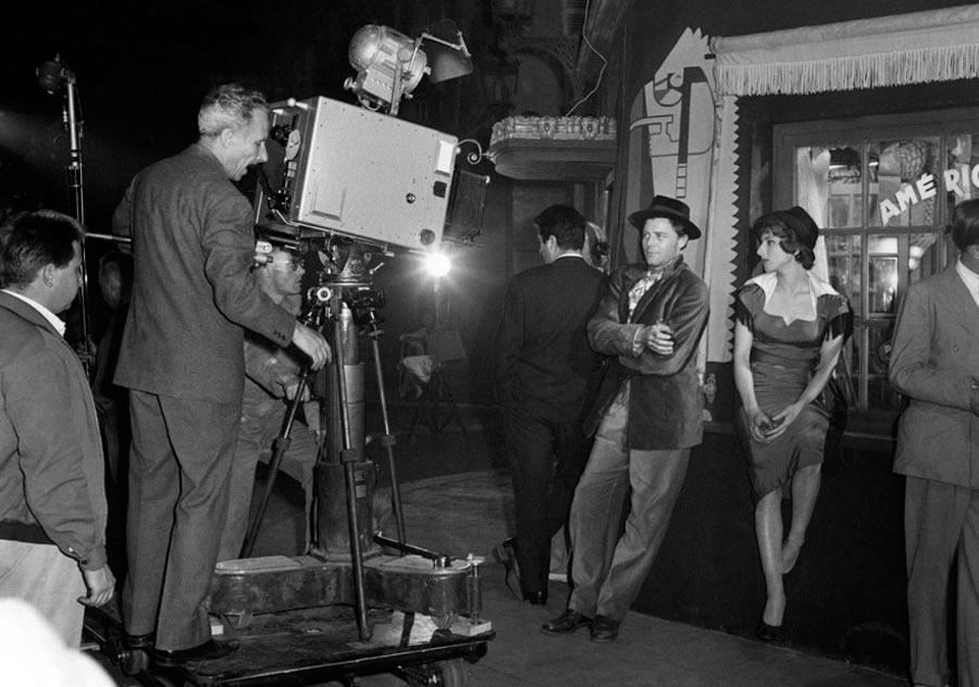 Sur le tournage de Montparnasse 19 (Jacques Becker)