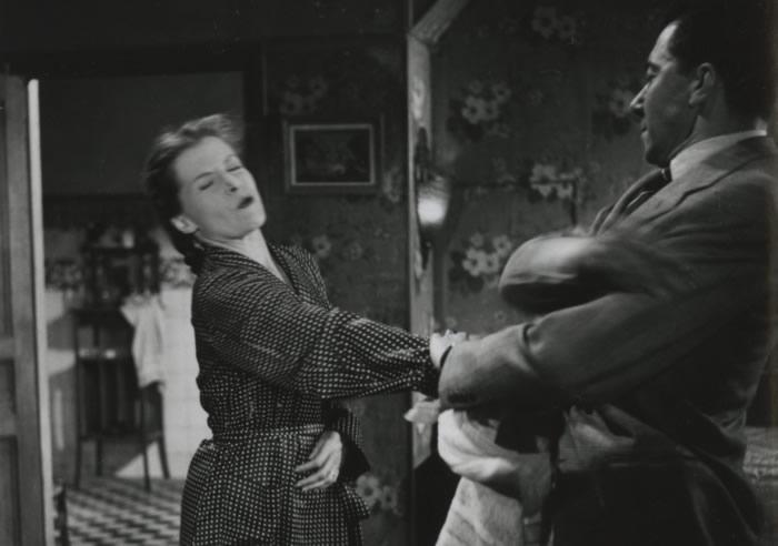 Véra Clouzot et Paul Meurisse dans Les Diaboliques