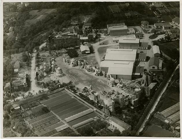 Vue aérienne des studios de la Victorine vers 1930