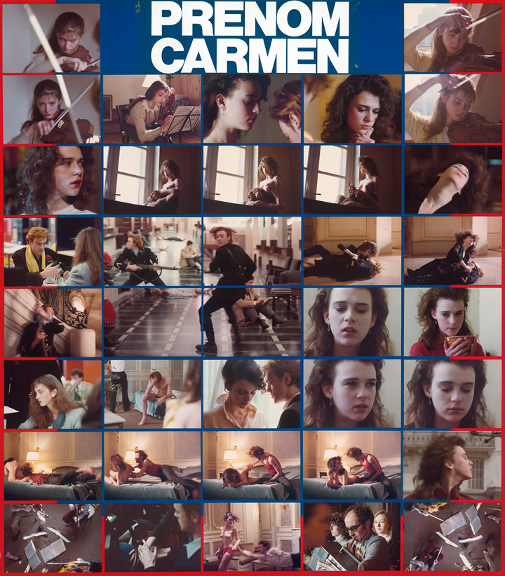 Prénom Carmen, affiche suisse du film